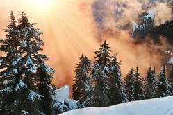 coucher de soleil dans le valbonnais