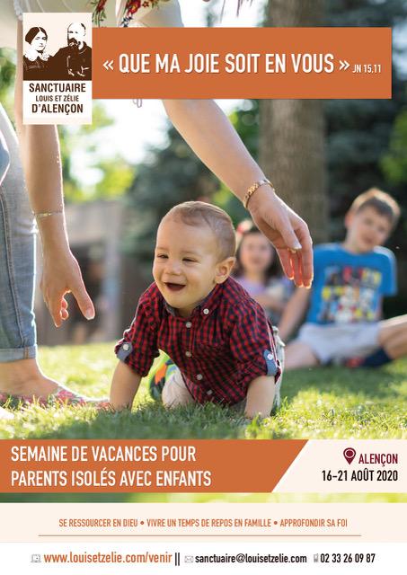 Flyer vacances pour parents isolés à Alençon